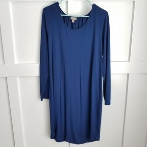J. JILL Wherever Collection Deep Blue Shift Dress